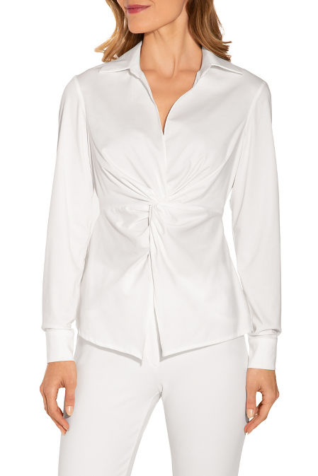 Wrinkle resistant knot front top image