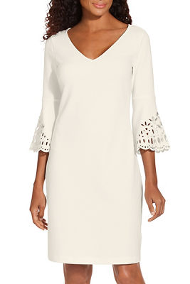 Beyond travel™ eyelet sleeve dress