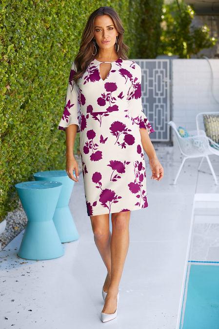 Beyond travel™ floral print dress image