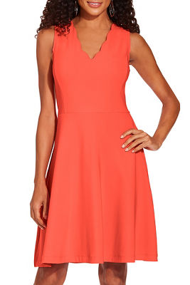 Display product reviews for Beyond travel™ scalloped neck dress