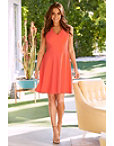 Beyond Travel™ Scalloped Neck Dress Photo
