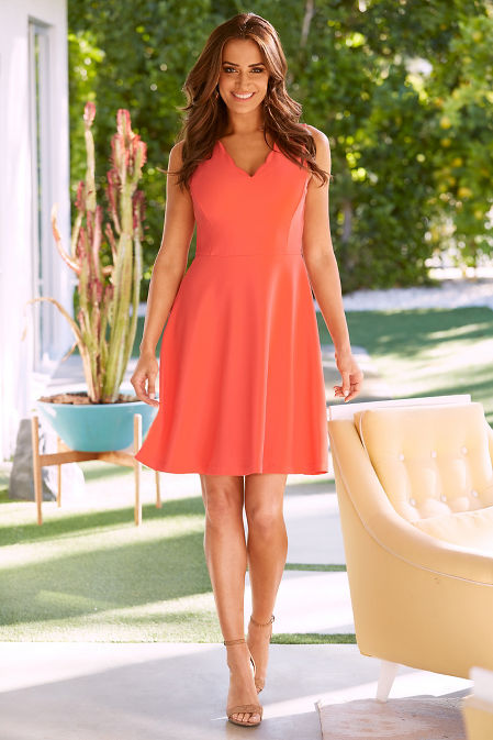 Beyond travel™ scalloped neck dress image