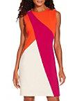 Asymmetric Colorblock Sheath Dress Photo