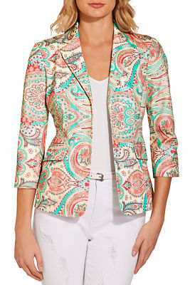 Everyday paisley twill jacket