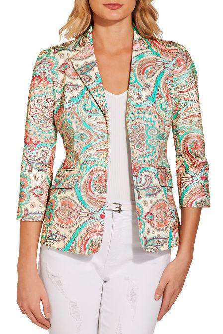 Everyday paisley twill jacket image