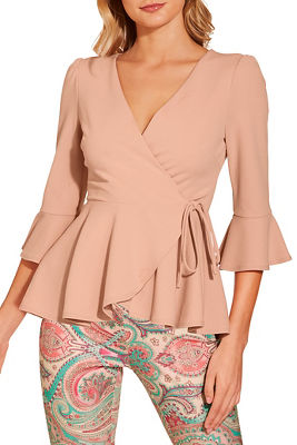 Fit and flare wrap top