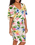 Floral Surplice Print Dress Photo