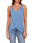 Knot Front V Neck Sweater Tank Top Photo