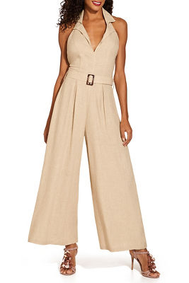 Linen collared jumpsuit