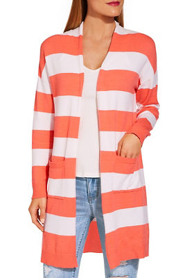 Long sleeve stripe must have cardigan