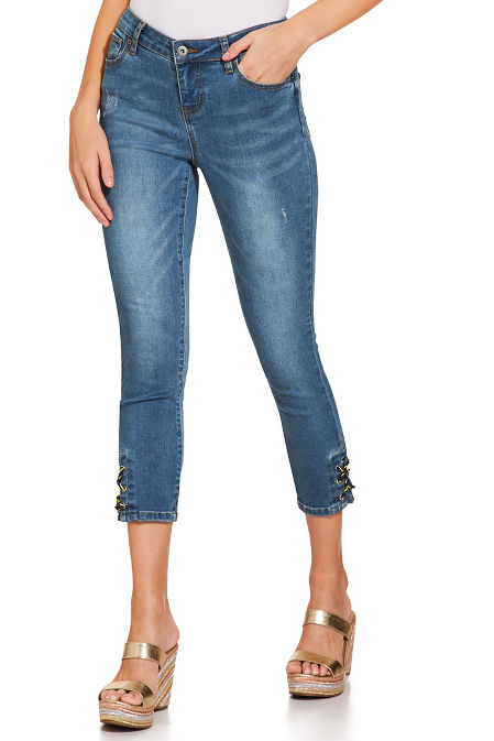 Marina lacing crop jean image