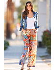 Mixed Print Tassel Detail Pant Photo