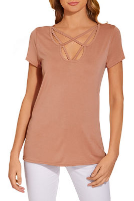 Neck detail drapey top