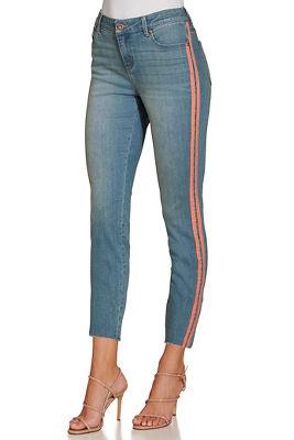 pink racer stripe jean