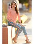 Pink Racer Stripe Jean Photo