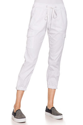 Pull on tie front cargo pant