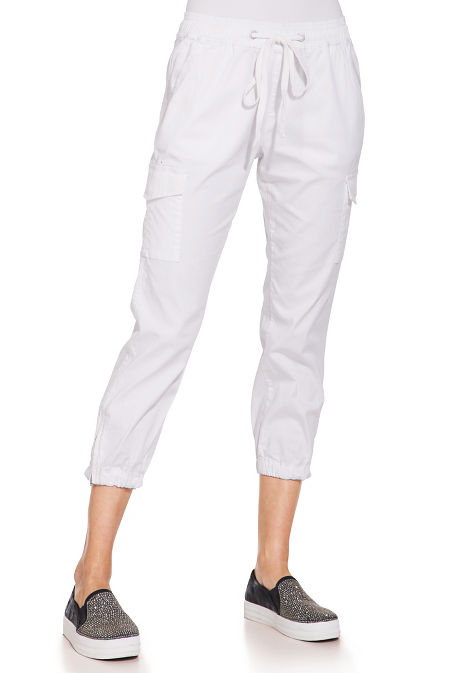 Pull on tie front cargo pant image