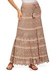 Embellished Crochet Maxi Skirt Photo