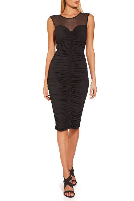 Ruched illusion dress image