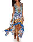 Scroll Tile Print Dress Photo