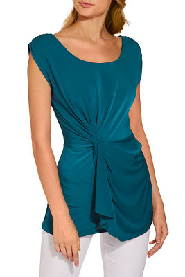 Side twist drape top