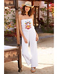 Strapless Beaded Embroidered Jumpsuit Photo