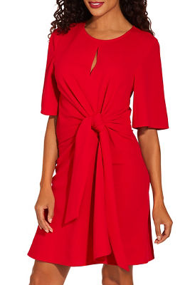 Tie front crepe dress