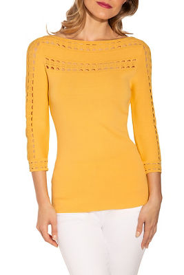 Display product reviews for Trim detail sweater