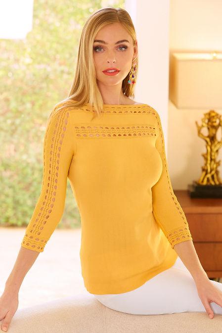 Trim detail sweater image