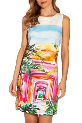 Tropical landscape dress