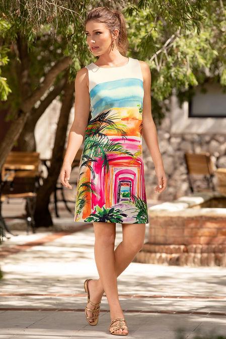 Tropical landscape dress image