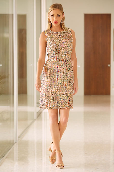 Tweed sheath dress image
