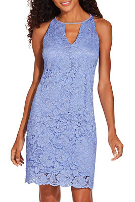 V cut lace dress