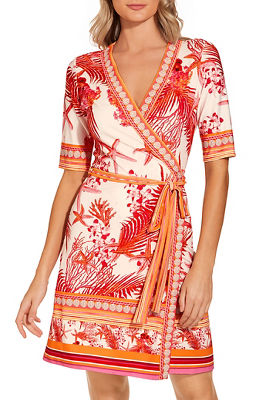 Sea life wrap dress