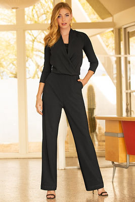 Beyond travel™ chiffon jumpsuit