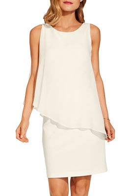 Beyond travel™ chiffon overlay dress