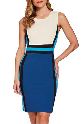 bEYOND TRAVEL™ SIDE COLORBLOCK DRESS