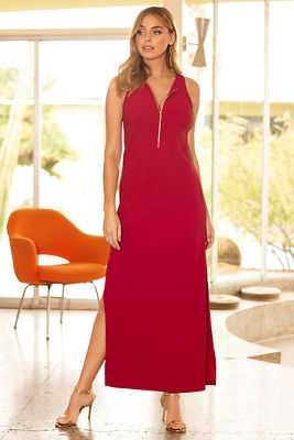 Beyond travel™ zipper maxi dress