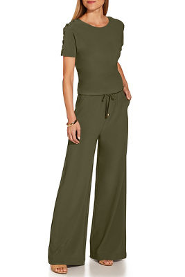 Beyond travel™ tie waist jumpsuit