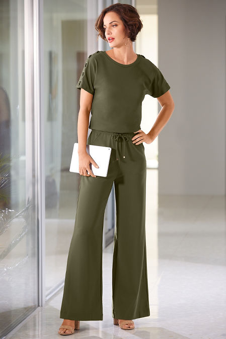 Beyond travel™ tie waist jumpsuit image