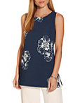Beyond Travel™ High Neck Floral Print Top Photo