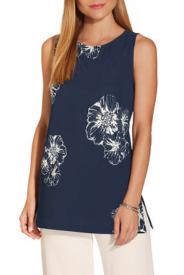 Beyond travel™ high neck floral print top