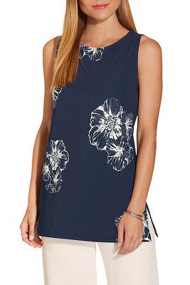 Beyond travel™ high neck floral print top