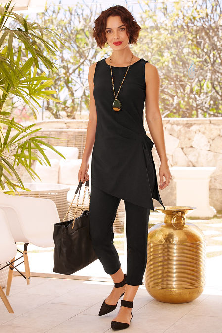 Beyond travel™ cinched drape top image