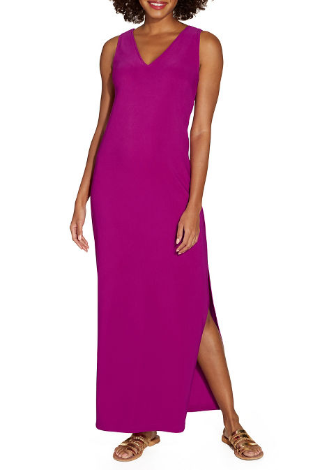 Beyond travel™ v neck maxi dress image