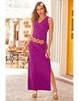 Beyond Travel™ V Neck Maxi Dress Photo