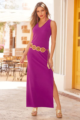 Beyond travel™ v neck maxi dress