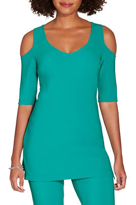 Beyond travel™ cold shoulder v neck top