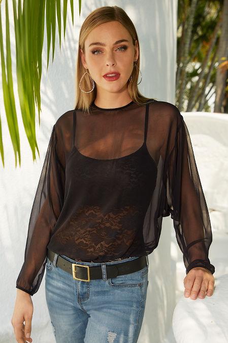 Lace blouson bodysuit image