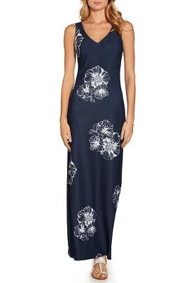 Beyond travel™ floral v neck maxi dress